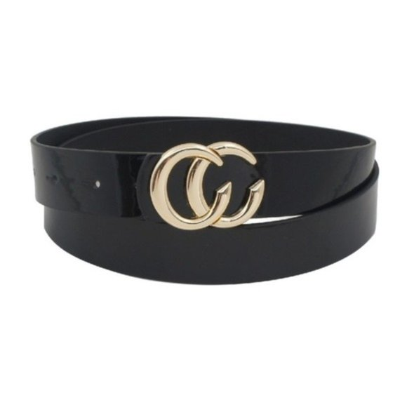 Accessories - Double semi circle buckle Vegan leather belt